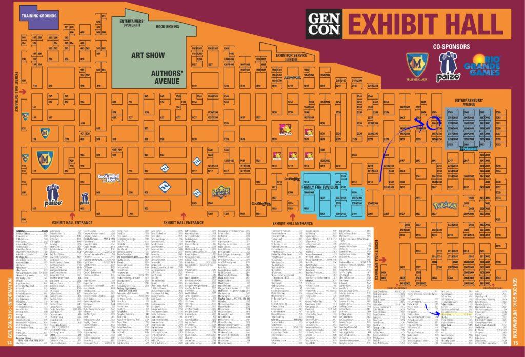 Gen Con 2016 Map