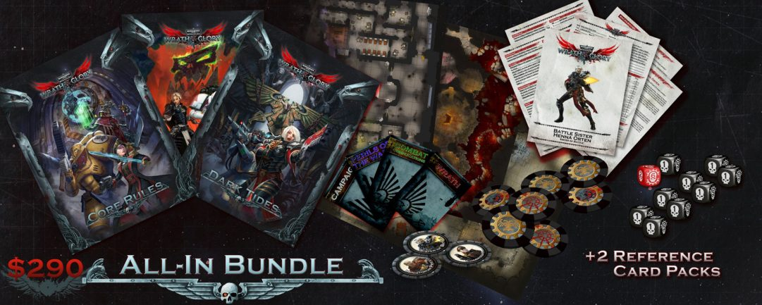 wrath and glory all in bundle reference card packs