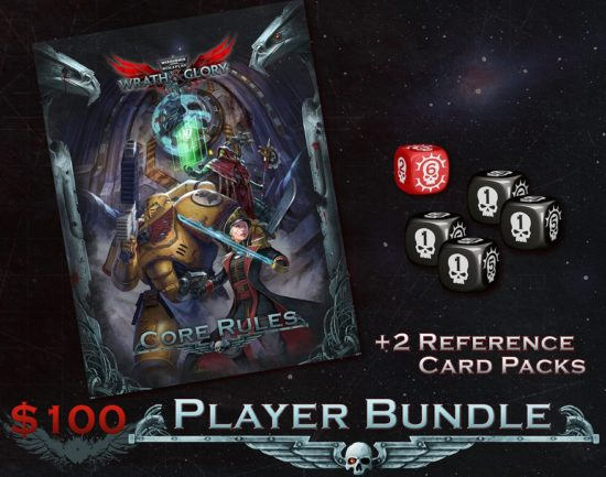 wrath and glory player bundle reference card packs